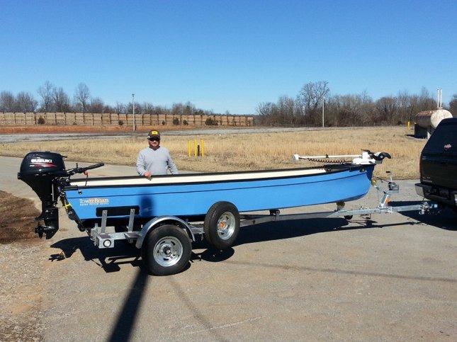 Merrit Brady of Charleston SC with his custom Carolina Blue Rivermaster Calusa
